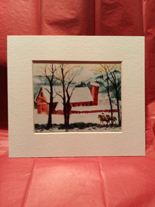 SMALL WATERCOLOR FRAMED PRINT