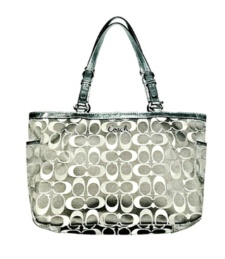 "COACH #17676 3-Color Signature ""C"" Gallery East/West Tote!"