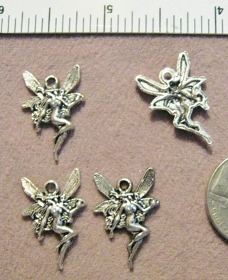2 Silver Pewter Fairy Pixie Charms ~ Gin only