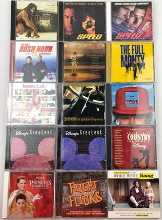 ✯Lot of (15) CD Soundtracks Some Disney, Action, Horror, Drama, Comedy ~ FREE SHIPPING✯