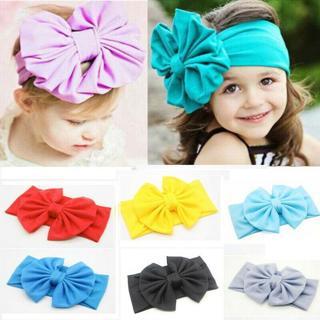 Girl Toddler Child Baby Bow Cute Hairband Headband Stretch Turban Knot Head Wrap