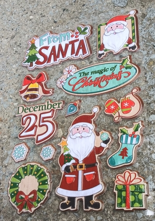 CHRISTMAS POP UP PLASTIC STICKERS LOT 1