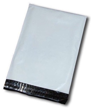 """Qty 5 - 7.5"""" x 10.5"""" Medium White Poly Mailers Shipping Envelopes (3)"""