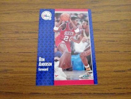 Ron Anderson trading card - Philadelphia 76er's
