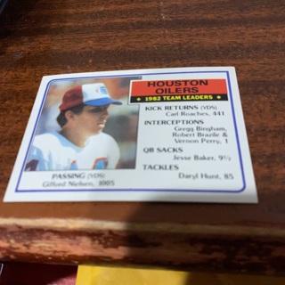 1983 topps 82 Houston oilers team ldrs Gifford Nielsen football card
