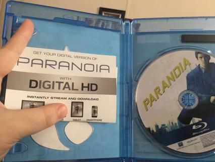Paranoia...blue ray digital copy