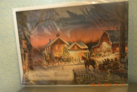 "****NIP BEAUTIFUL CHRISTMAS CARD #3 ""CHRISTMAS BLESSINGS"" W/MATCHING ENVELOPE***FREE SHIPPING"