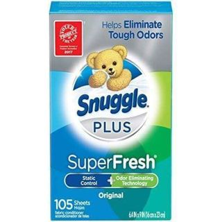 ✔~ 2 BOXES • SNUGGLE DRYER SHEETS 105 PER BOX = 210 DRYER SHEETS ~✔