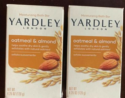 ✹YARDLEY LONDON Oatmeal & Almond 4.25 oz. 2 Soap -(Stocking Stuffers)