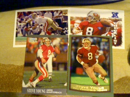 4 card lot of 49ers Steve Young hall of fame qb