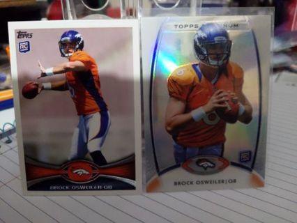 Brock Osweiler rookie cards Denver Broncos