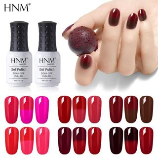 HNM 8ML Wine Red Thermo Nail Gel UV Paint Gellak Changing Nail Gel Polish Semi Permanent Hybrid Va