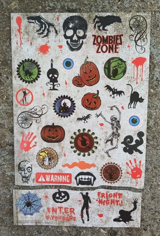 HALLOWEEN STICKERS 2 SHEETS