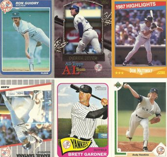 10-Card Lot of New York Yankees Baseball Cards