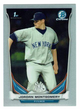 Jordan Montgomery 1st Bowman Rookie New York Yankees 2014