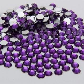 Purple 4mm Rhinestone Flatbacks Great for Nail Art approx 50 Pieces