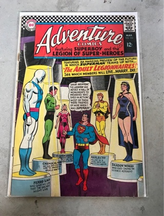 Adventure Comics #354 12 cent Cover Silver Age