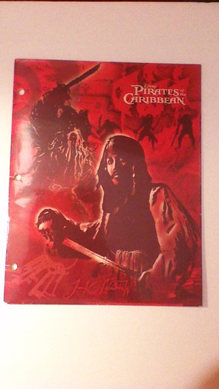 Disney Pirates Of The Caribbean Sparrows Folder School Supplies Home Office Paypal For Shipping