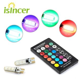 2PCS RGB T10 W5W Led 194 168 W5W 5050 SMD Car Dome Reading Light Automobiles Wedge Lamp RGB LED