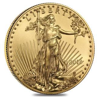 Three (3) 2018 1/10 oz Gold American Eagle $5 Coin BU