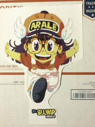 NEW Dr. Slump Arale Norimaki Dragonball ANIME MANGA Big Sticker 11' 2- Piece GIN