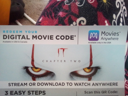 STEPHEN KING'S :  IT Chapter 2 Digital Movie Code