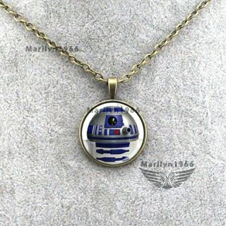"STAR WARS ""THE FORCE AWAKENS""■R2D2 NECKLACE ■""21 ANTIQUED CHAIN■FREE $HIPPING"