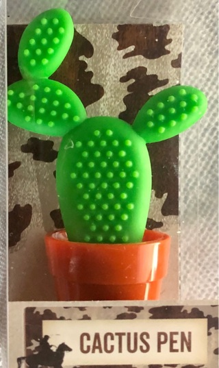 BNIP Decorative Cactus Pen. Writes black