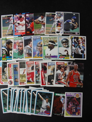 ee406213435 Free  Lot of 42 Star and Rookie 1980s 90s Baseball Football Cards ...