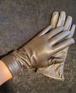 Thinsulate Brown Faux Leather Gloves S/M