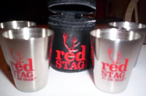 FREE: NEW JIM BEAM RED STAG SHOTGLASS GIFT SET!!!