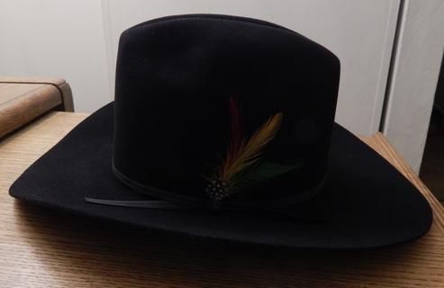 0f883c74533ff FREE  New Stetson Rancher Cowboy Hat Black 4X Beaver Fur Felt Cowboy Hat  size 57 or 7 1 8