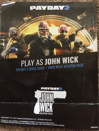 PAYDAY 2 base game and JOHN WICK WEAPON PACK