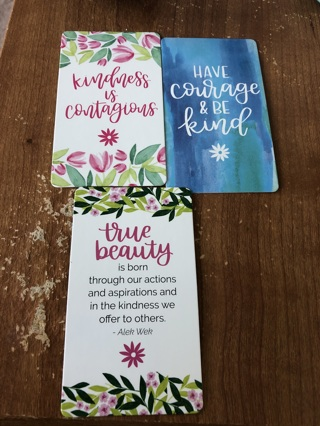 Lot of 3 kindness cards