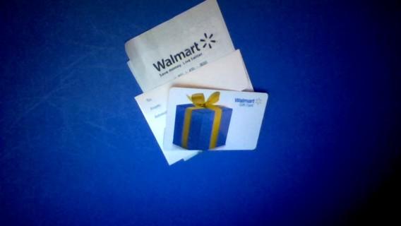 $10 Wal-Mart gift card GIN