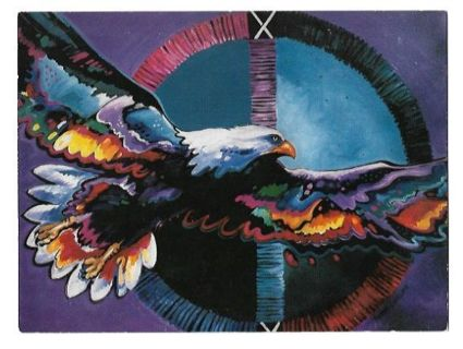 Birthday Card Unused With Envelope Eagle