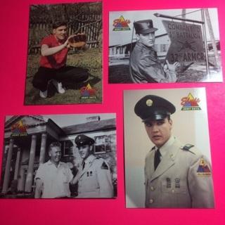 4 Elvis Army Days 1992 Cards!