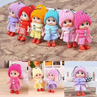 2X Girl Toy Soft Interesting Baby Dolls Toy Doll Mobile Phone Accessory 3C
