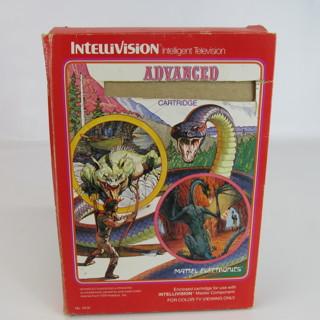 Advanced Dungeons & Dragons Intellivision Video Game 1982 AD&D Original Box