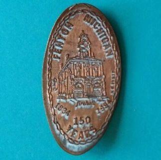 FIREHALL 150 Years 1834 1984 Fenton Michigan Elongated 1984 Penny - Free Shipping