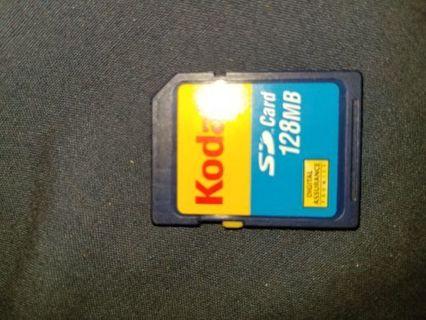 Kodak 128MB SD card