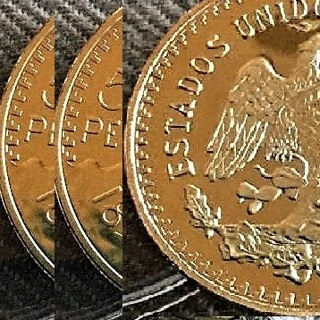 3 pieces 3 of 50 Peso Gold Plated Replica,same dimensions COPY Similar dimensions copy. Ships fast