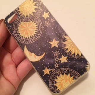Moon and star iPhone 5s rubber case
