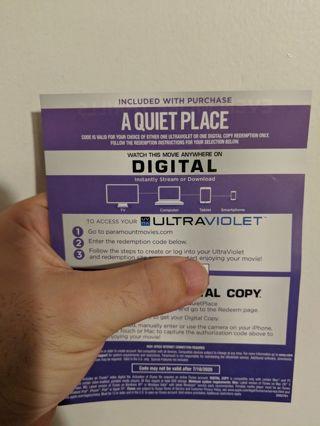 A Quiet Place - HD digital code