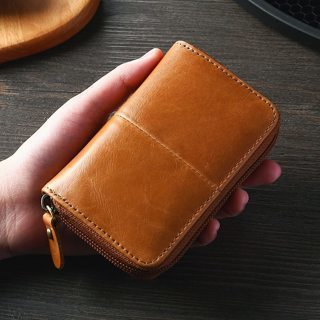 Wallet Cow Leather Credit Card Business Card Holder Retro Bank/ID/Credit Card Holder
