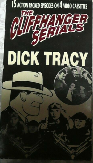 VINTAGE DICK TRACY CLIFF HANGER VHS TAPES