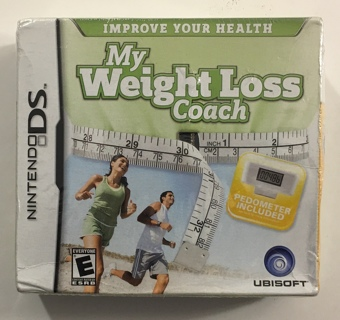My Weight Loss Coach (Improve Your Health - Pedometer Included) Nintendo DS Video Game - New Sealed!