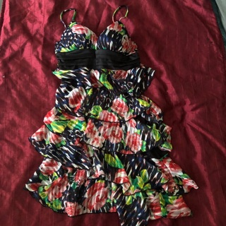 XOXO Floral Ruffle Dress 3/4 please READ
