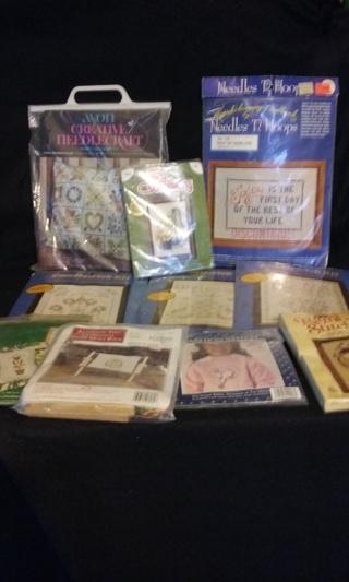 Vintage Cross~Stitch ~ NeedleCraft ~ CandleWick Kits ~ Free Shipping!