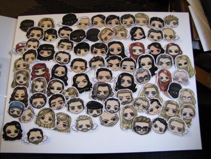 Supernatural sticker set (79 stickers)